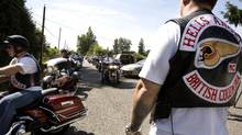 Guests arrive at the Hells Angels clubhouse in Langley, B.C., in July 2008. (Jennifer Roberts/The Globe and Mail)