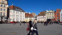 Town Hall Square is a popular gathering spot for Tallinn's tourists and local alike. (Amy Laughinghouse)