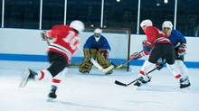 Ice hockeay game (Comstock/Getty Images/Comstock Images)