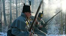 American regular soldiers, in a re-enactment from The War of 1812. Premieres Monday, October 10, 2011, 9:00 p.m. ET (check local listings). (Courtesy of Stephen McCarthy; WNED-TV, Buffalo/Toronto and Florentine Films/Hott Productions Inc.)