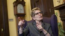 Ontario Premier Kathleen Wynne speaks in an interview at Queen' Park on April 29, 2013. (DEBORAH BAIC/THE GLOBE AND MAIL)