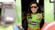 Danica Patrick reacts to photographers at the Daytona International Speedway in Daytona Beach, Florida February 22, 2013. (BRIAN BLANCO/REUTERS)
