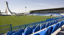 Players practice at Saputo Stadium, new home of the Montreal Impact of MLS (Paul Chiasson)