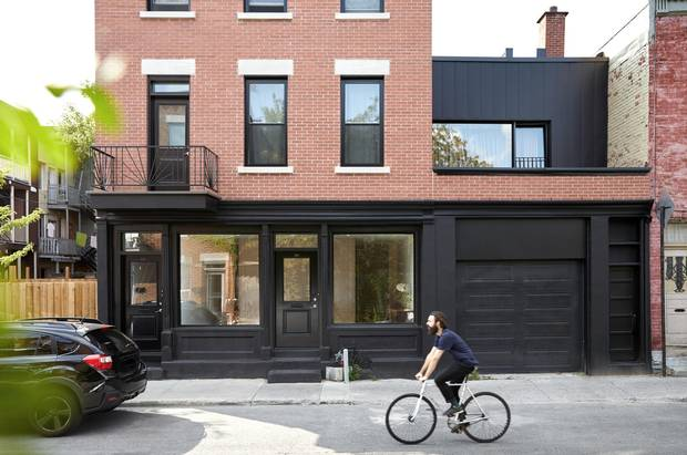 The home of Dr. Mila Bouchereau and Martin Gareau in Montreal's Plateau area was designed by Atelier Barda.