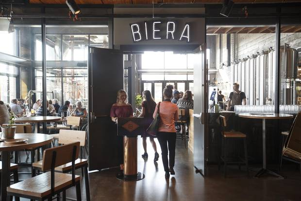 Edmonton's Biera is a forward-thinking eatery inside Blind Enthusiasm Brewery. The restaurant's executive chef, Christine Sandford, says her bread-making process is 'a real labour of love.'