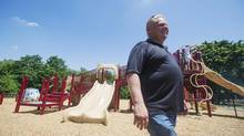 Councillor Doug Ford takes part in the official re-opening of Douglas B. Ford Park that has been re-named after his father in Toronto on June 29. (Michelle Siu/The Globe and Mail)