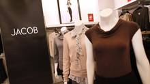 Women's wear retail store Jacob on Bloor Street in Toronto. (Moe Doiron/The Globe and Mail)