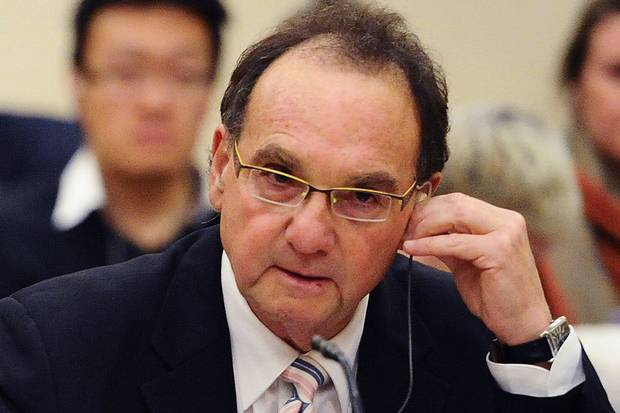 Justice Michael Moldaver appears before the Ad Hoc Committee on the Appointment of Supreme Court of Canada Justices on Parliament Hill in 2009.