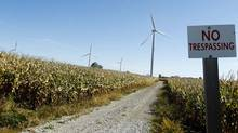 Erie Shores Wind Farm in Norfolk County in Southwestern Ontario on Oct. 8, 2010. (Peter Power/The Globe and Mail)