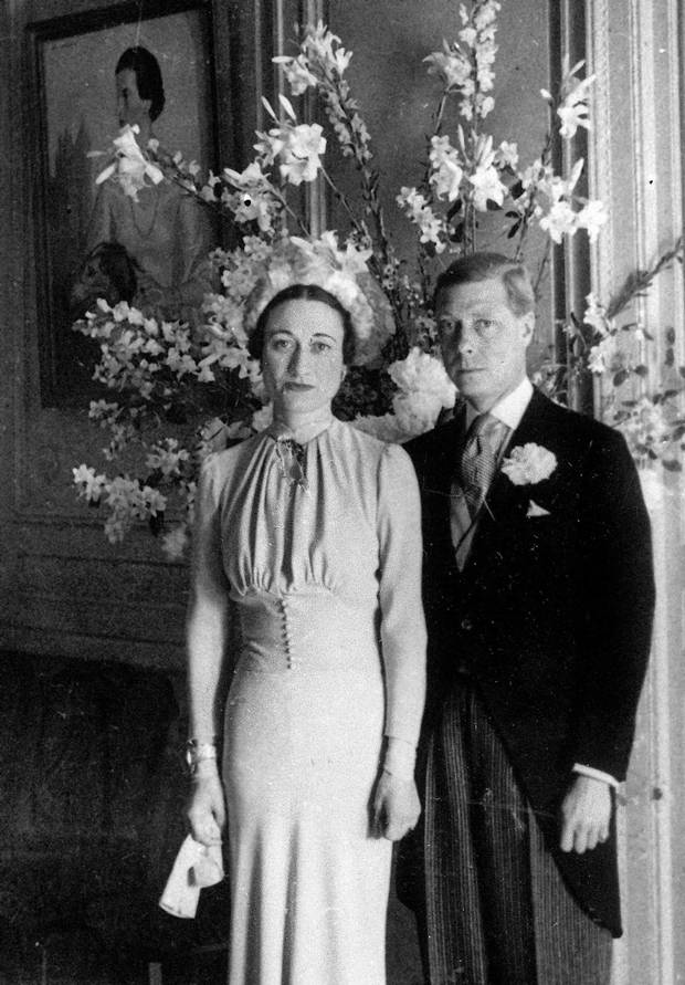 The Duke and Duchess of Windsor pose after their wedding at the Chateau de Cande near Tours, France, on June 3, 1937.