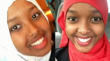 Fardosa Abdi, 17, left, suffered extensive injuries during the attack on the Nairobi shopping mall. Her sister Dheeman, 16, was also hurt, but was treated in hospital and released. (Handout)
