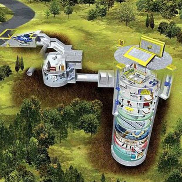 The Survival was built in a converted missile silo