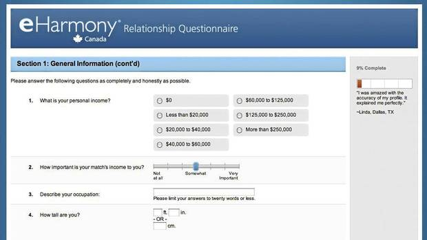 how to search eharmony profiles