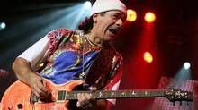 Santana (seen here in 2006) is flying onstage.