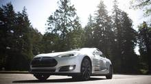 2014 Tesla Model S P85 with a price tag of just over $124, 000 in Vancouver, British Columbia, Wednesday, May 7, 2014. (Rafal Gerszak For The Globe and Mail)