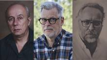 Finalists for the Scotiabank Photography Award, left to right: Mark Ruwedel, Rodney Graham, and Donald Weber.