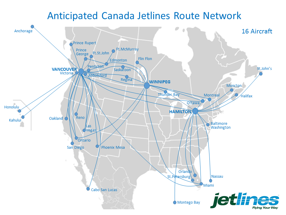 Canada Jetlines Route Map Canada Jetlines plans cross Canada expansion   The Globe and Mail