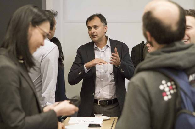Ajay Agrawal at a Creative Destruction Lab session.
