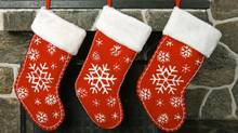 Christmas stockings (Jon Helgason/Getty Images/iStockphoto)