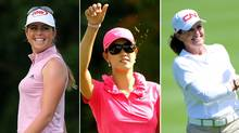 Paula Creamer, Michelle Wie and Lorie Kane