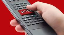 This file photo provided by Netflix Inc., shows a representation of the Netflix one-click remote available on many consumer electronics devices is shown. (Anonymous/AP)