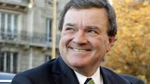 Finance Minister Jim Flaherty arrives for a G20 meeting in Paris on Oct. 14, 2011. (Michel Euler/AP)
