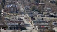 An view of the town from the look out point in Lac Megantic, May 13, 2014. (Christinne Muschi For The Globe and Mail)