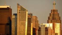 Toronto bank towers and skyline. (Moe Doiron/The Globe and Mail)