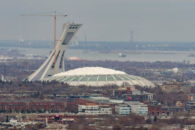 The Olympic Stadium in Montreal.