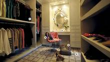 Joanna Track's walk-in closet. (Fred Lum/The Globe and Mail)