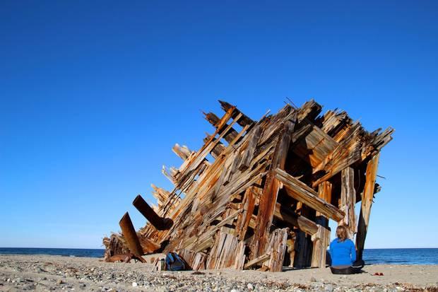 Visiting the Pesuta shipwreck on Haida Gwaii.