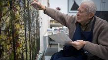 Gordon Smith, now 93, shown in his studio at his West Vancouver home, believes education in crucial for any artist. (John Lehmann/The Globe and Mail)