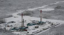 An Encana site in the Horn River basin near Fort Nelson, B.C. Natural gas is promoted as a clean-burning fuel – but getting it out of the ground remains a potentially messy process. (David Ebner/The Globe and Mail)