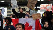 Occupy protesters in Toronto in 2011 objected to a lack of fairness in society. (Michelle Siu for The Globe and Mail)