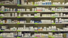 Shelves of various drugs and medication at the Toronto General Hospital's pharmacy (Fred Lum/The Globe and Mail)