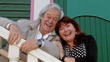 Gordon Pinsent and Mary Walsh photographed this week outside the newly renovated LSPU Hall in St. John's. (Paul Daly)