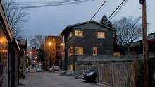 Bill Gall's Toronto laneway house, designed by Christine Lolley and Tom Knezic of Solares Architecture. City approval to built in a laneway - almost impossible to come by now - had already been granted when Mr. Gall bought the vacant lot six years ago. (Andrea Hunniford)