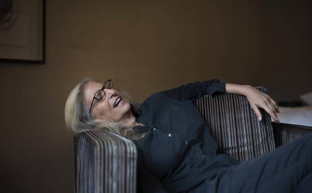 Annie Liebovitz speaks during an interview in Toronto on Nov. 2.