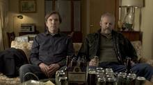 Martin Donovan, left, as a hostage and David Morse as his captor in Collaborator. (Tribeca Film)