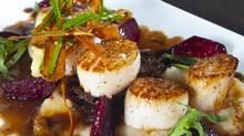 Chef Todd Perrin's scallops and beets (Brian Ricks)