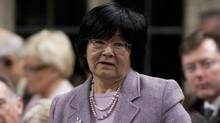 International Cooperation Minister Bev Oda responds during Question Period in the House of Commons in Ottawa, Monday, April 30, 2012. (THE CANADIAN PRESS)