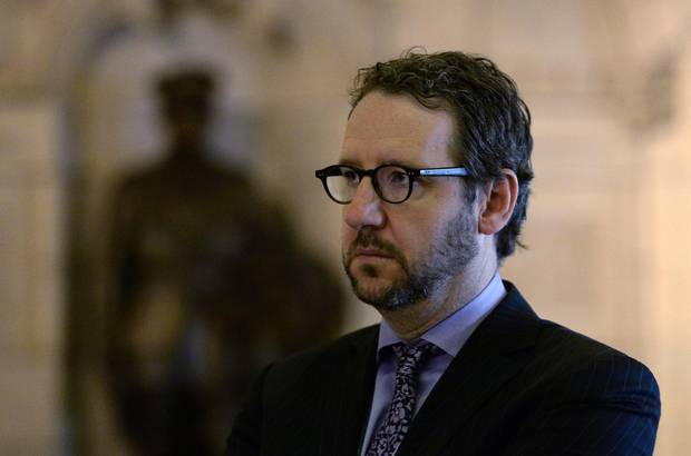 Liberal Leader Justin Trudeau's principal advisor Gerald Butts looks on during a press conference on Parliament Hill in Ottawa on Wednesday, April 30, 2014.