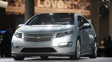 The 2011 Chevrolet Volt at the Los Angeles Auto Show. (Jae C. Hong/AP Photo)