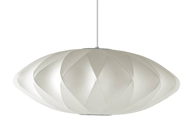 Nelson Crisscross Saucer pendant lamp (medium), $490 at Design Within Reach (dwr.com).