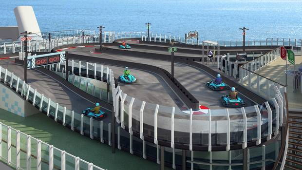 As seen in this artist's rendering, the Norwegian Joy will facing its own racing track.