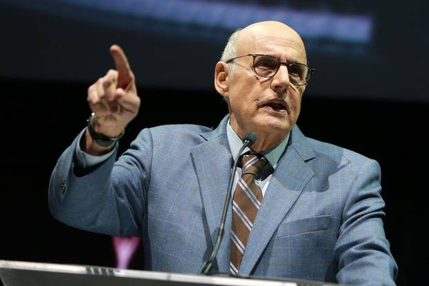 Nov. 2, 2017: Jeffrey Tambor speaks onstaged during the 2017 Clio Entertainment Awards in Los Angeles.