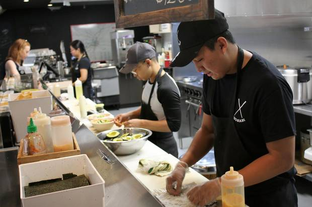 Chosabi on Winnipeg's King Street is famous for the sushi burrito, a local favourite.