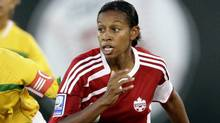 Candance Marie-Chapman of Canada during the CONCACAF Women's World Cup qualifying tournament soccer match at the Beto Avila stadium in Cancun October 31, 2010. (Henry Romero/ Reuters/Henry Romero/ Reuters)