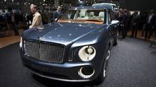 The Bentley EXP 9 F concept car. (VALENTIN FLAURAUD/REUTERS)