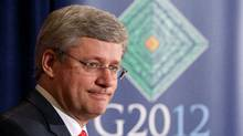 Canadian Prime Minister Stephen Harper speaks at a news conference following the G-20 Summit in Los Cabos, Mexico, Tuesday June 19, 2012. (THE CANADIAN PRESS)